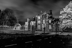 Dudley Priory_M-8870 (timbertree9) Tags: greyscale blackandwhite monochrome mono colour dudley dudleycouncil westmidlands priory sky skyatnight architecture historic ruins eng unitedkingdom central hdr dark darksky stars clouds lighting shadows stone