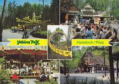 Postkarte / Deutschland (micky the pixel) Tags: postkarte postcard ephemera multiview deutschland germany hasloch freizeitpark unterhaltungspark holidaypark achterbahn rollercoaster rheinlandpfalz
