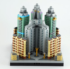 Lego microcity: fourth district (guitar hero78) Tags: lego legomoc legocity microcity microscale diorama fujifilm xe1 afol