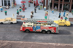 """Lego Miniland New York City: Firetruck • <a style=""""font-size:0.8em;"""" href=""""http://www.flickr.com/photos/28558260@N04/44494987060/"""" target=""""_blank"""">View on Flickr</a>"""