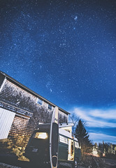 Comet 46P/Wirtanen... It's the fuzzy dot upper-center and to the right. - Tenants Harbor Maine (Jonmikel & Kat-YSNP) Tags: comet sky night stars barn vw bus vwbus nightsky maine winter