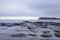 Wash out (JustAddVignette) Tags: australia beach clouds cloudy cloudysunrise collaroy dawn fog headland hightide landscapes longexposure newsouthwales northernbeaches ocean rocks seascape seawater sky smoothwater sun sunrise swell sydney water waves