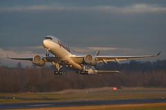A7-ALI Airbus A350-941 EGPH 23-12-18 (MarkP51) Tags: a7ali airbus a350941 a350 qatarairways qatar qr qtr edinburgh airport edi egph scotland aviation airliner aircraft airplane plane image markp51 nikon d7200 sunshine sunny planeporn nikonafp70200f4556fx goldenhour enginefog