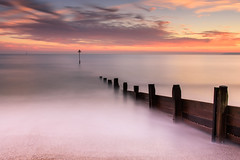 119 Seconds (Sunset Snapper) Tags: sunset sandypoint haylingisland hampshire southcoast uk beach groyne longexposure filters lee littlestopper nd grad nikon d810 2470mm shingle posts december 2018 clouds sky sea seascape sunsetsnapper