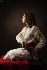 Portrait (Aurelien G. Photographie) Tags: metz moselle lorraine france europe barefoot sword femme fille girl woman white black renaissance reborn history story musketeer musket louis