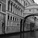 Italie Venise Italia Venezia pont soupirs ponte sospiri NB BW
