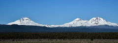 Three Sisters Mountains, Oregon (maytag97) Tags: sisters mountains sister morning central background sky three mountain cascades blue beauty natural view high snow oregon range cascade north middle south winter pristine d750 nikon maytag97 outdoor landscape peak springseason