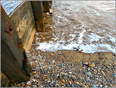 Timber ..Water  & .Pebbles .. (** Janets Photos **) Tags: hornsea uk eastyorkshire beaches shore seaside groynes stones breakwaters