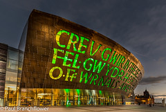 Wales Millennium Centre (pjbranchflower) Tags: cardiff bay millennium centre dusk sunset