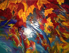 Reflections Of Fall By Aurora Aguirre, Oil Painting (katalaynet) Tags: follow happy me fun photooftheday beautiful love friends