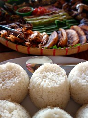 Rice (STEHOUWER AND RECIO) Tags: rice rijst food asianfood foodplate philippines philippinefood kain pilipinas kanin 白饭 ご飯 delicious yummy delish foodie shrimps hipon crunchy baked vegetables spoon reflections tasty assorted talong tomatoes fish fishsauce voedsel filipino filipinofood