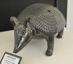 Oaxaca Pottery Armadillo Mexico (Teyacapan) Tags: armadillo pottery ceramics mexican oaxacan museum barronegro blackpottery coyotepec animals