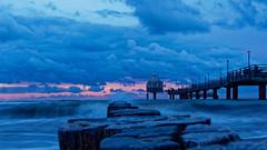 The blue Baltic Sea (alterahorn) Tags: ostsee balticsea meer sea mer blauestunde bluehour goldenhour sonnenuntergang blue seebrücke zingst fischlanddarszingst buhne wellenbrecher wellen wave olympus syncis olympusomdem1markii mzuiko mzuiko12100mm zoom reisezoom travelzoom dxo