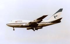 EP-IAB Boeing 747SP-86 Iran Air Heathrow 09Apr89 (kerrydavidtaylor) Tags: lhr egll londonheathrowairport boeing747 boeing747sp