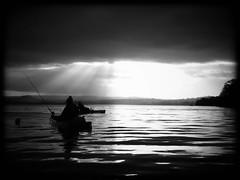 Happy new year from the kayakers . (Nicolas Valentin) Tags: scotland kayakfishing kayak kayakscotland kayaking kayakfishingscotland loch landscape lochlomond light lomond lake fishing freedom