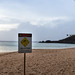 Jellyfish warning at Block Rock Maui, Hawaii