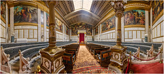 Academy of Athens, Greece (Heathcliffe2) Tags: academy university athens greece interior architecture decor marble ornate hall seating chairs painting art fresco ceiling carpet
