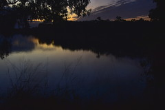 Eventide (Dreaming of the Sea) Tags: sliderssunday hss gimp nikond7200 tamronsp2470mmf28divcusd sunset bundaberg burnettriver water reflections grass clouds gumtrees