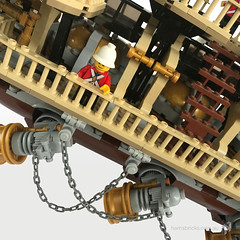 Imperial-Airship-Bricktania-Harris-Bricks-006 (HarrisBricks) Tags: lego moc custom steampunk ship airship zeppelin