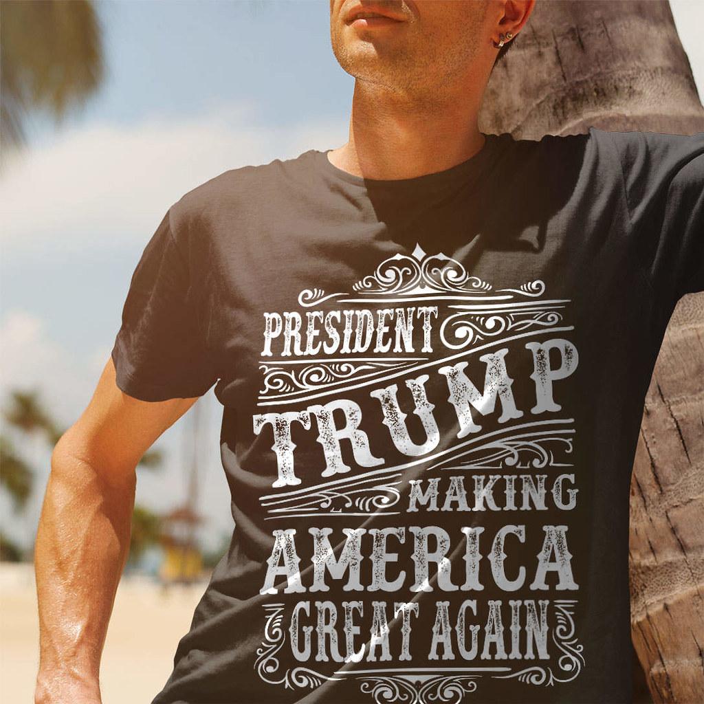 d92b8ac802422 President Trump. Making America Great Again. T-Shirt. (Sons of Liberty