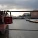 Liebesschloss am Hamburger Hafen