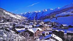 FRANCE - Alps - La Clusaz (Jacques Rollet (Little Available)) Tags: montagne mountain neige snow paysage landscape winter hiver village maisons houses