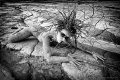 "TEATRONATURA ""The creature of the earth"" (valeriafoglia) Tags: creature earth blackandwhite tribal wild nature model makeup magic art atmosphere amazing concept design branches beautiful beauty black outfit photography photo portrait fantasy stylist creative composition capture"