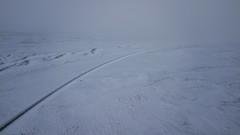 Lost to silence (aerojad) Tags: fljótsdalshérað easternregion iceland is dji mavic mavicpro dronephotography drone 2018 landscape vacation travel wanderlust iceland2018 stream river creek routeone road roadway snow snowscape snowing