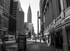 Streets of New York (TMStorari) Tags: cityscapes newyork nyc ny newyorkcity chrysler midtown blackandwhite bianconero manhattan usa urbanjungle concrete travel