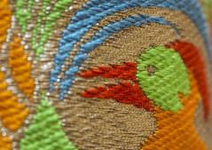 Kimono (fotofrysk) Tags: macromonday hmm cloth kimono weddingkimono uchikake kyoto japan souvenir embroidery silk stylizedbirdofparadise canada ontario thornhill cityofmarkham afsmicronikkor105mm28ged nikond7100 20190127dng2199