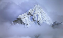 Snow Peak In Clouds_01 (brucekester@sbcglobal.net) Tags: mountainpeak snow clouds andes 4ktv canon5dmarkii mountainquest