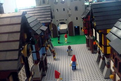 Black Falcons Castle (Ced72) Tags: blackfalcons black falcons castle fortress layout battle town lion knights seneffe 2017 lego old army