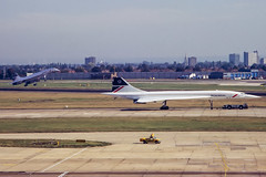 British Airways BAC/SUD Concorde 102 G-BOAC & G-BOAF (Neil D. Brant) Tags: airlines bacsudconcorde102 britishairways gboac gboaf operator feltham middlesex england gb