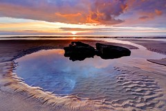 Citizen of glass (pauldunn52) Tags: rock pool temple bay glamorgan heritage coast wales paul sunset reflections