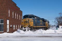 CSX Q203 - Deshler, Ohio (dti407) Tags: csx q203 2019 deshler ohio snow gevo sony a77ii