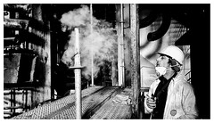 industrial (MarcoBertarelli) Tags: industry industrial abandoned monochrome monochromatic composition close contrast bw man worker
