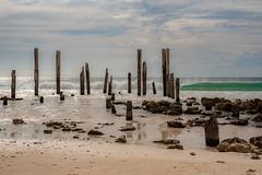 Port Willunga (Helen C Photography) Tags: yellow beach ocean waves shore nature south australia coast willunga nikond750 nikon d750 jetty pier ruins