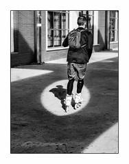 Le Patineur. (francis_bellin) Tags: blackanwhite andalousie streetphoto street homme netb photoderue ombre noiretblanc monochrome espagne sport bw roller rue janvier patineur 2019 malaga sacàdos