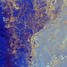 This spaceborne radar image shows the area just north of the city of Cairo, Egypt,