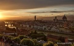 Firenze (Rolandito.) Tags: europe europa italy italia italien italie toscana toskana tuscany firenze florence florenz piazzale michelangelo sunset