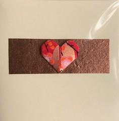 (anuradhadeacon-varma) Tags: love wedding valentines chiyogamipaper loktapaper origamiheart origami origamigreetingscard