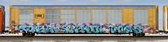 Forever Spreadin Thighs (quiet-silence) Tags: graffiti graff freight fr8 train railroad railcar art fst foreverspreadinthighs frank autorack csx ttgx695460