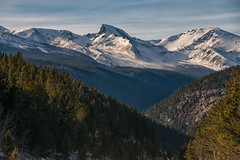 Scenic Byway (RkyMtnGrl) Tags: landscape nature scenery vista mountains peaks snowcovered pines byway scenic peaktopeak colorado 2018