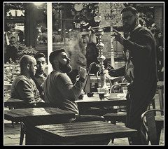 Boys' Night Out (ronramstew) Tags: liverpool merseyside restaurant men concertsquare candid
