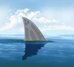 Iron shark (vlekuona) Tags: shark sea fin 3d animalsinthewild blue danger day horizontal nature nopeople oneanimal sealife sky travel water wave wildlife swimming russianfederation