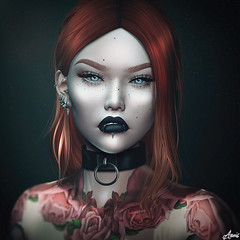 My Demons.. (Anais Maelle) Tags: art blogger closeup creative face fashion genus headbento italian maelleanais portrait secondlife style
