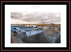 Brume sur le lac (** Capo Jean-claude * <°)))) ><) Tags: france tableau artistes artistique numerique photoshop belle image bateaux lac eau boat lake water
