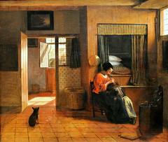 Pieter de Hooch. A Mother Delousing her Child's Hair. 1658-60 (arthistory390) Tags: rijksmuseum