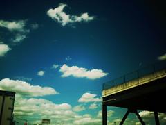 この場所 #2 (furisumeru) Tags: polaroid a550 toydigital toycamera sky cloud