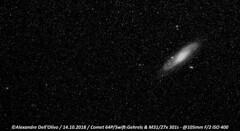 64P Swift-Gehrels M31NB (achrntatrps) Tags: nikkor105mmf14 komet cometa astronomy nightshot comet comète night nikon nuit astrophotographie astrophotography astrophoto astronomie alexandredellolivo dellolivo photographe photographer achrntatrps achrnt atrps radon200226 radon etoiles stars sterne estrellas stelle nacht nicht noche notte lachauxdefonds d5300 queue tail magnifique magnificent beautiful marvellous merveilleux beau beauty 64pswiftgehrels skywatcher eq6rpro blackandwhite noiretblanc